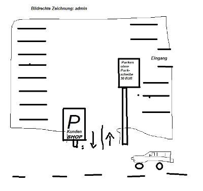 Abzocke auf Kundenparkplatz